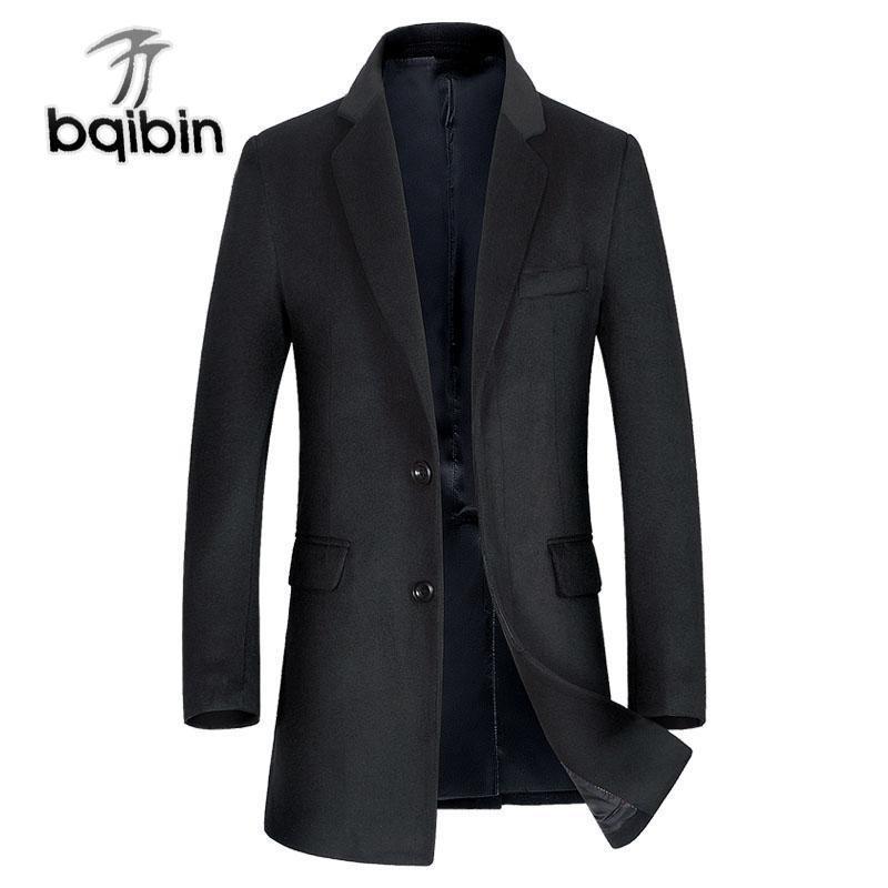 Cappotto da uomo in lana invernale moda sottile grasso maschio casual business lungo pisello giacca giacca sucoat Abrigo Hombre Blends uomo