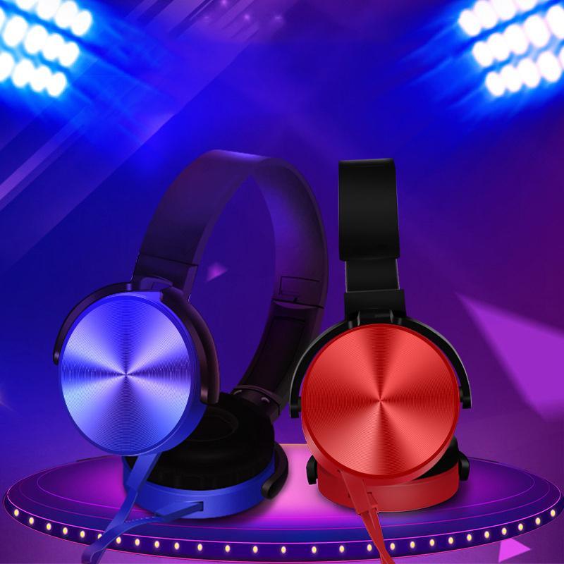 XB450 Headset 4D HiFi 3.5mm com fio fones de ouvido dobrável fones de ouvido com microfone sobre fones de ouvido de ouvido música fone de ouvido estéreo para telefone