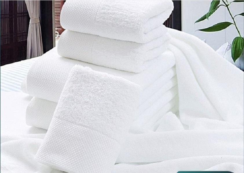 Serviette 2020 SS Hotel Bath Coton Eau blanche Absorbant Absorbant Épaisonnement Beauté Salon 70 * 140cm