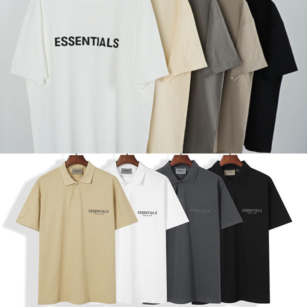 Das Gefühl von Gott Nebel Essentials Tops Doppelzimmer Silikon High Street Lose T-Shirt Polo T-Shirts Für Männer T-Shirts Fashions