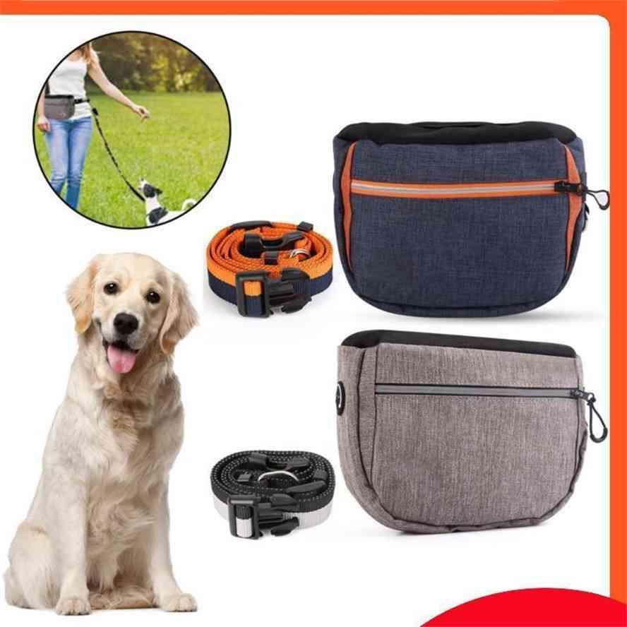 Large Capacity Pet Dog Snack Bag Leashes Waist Belt Training Pocket Outdoor Bait Phone Toy Carrier Pack Car Seat Covers