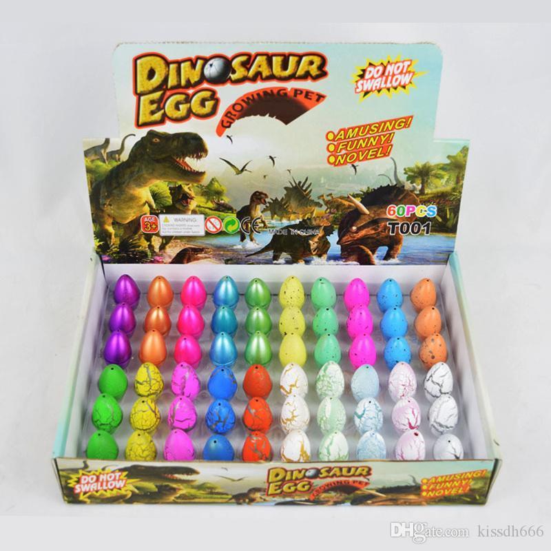 60 قطع الاحتفال نفخ السحر الفقس ديناصور البيض إضافة المياه تنمو دينو البيض الطفل طفل التعليمية لعبة عيد الفصح هدية مثيرة للاهتمام