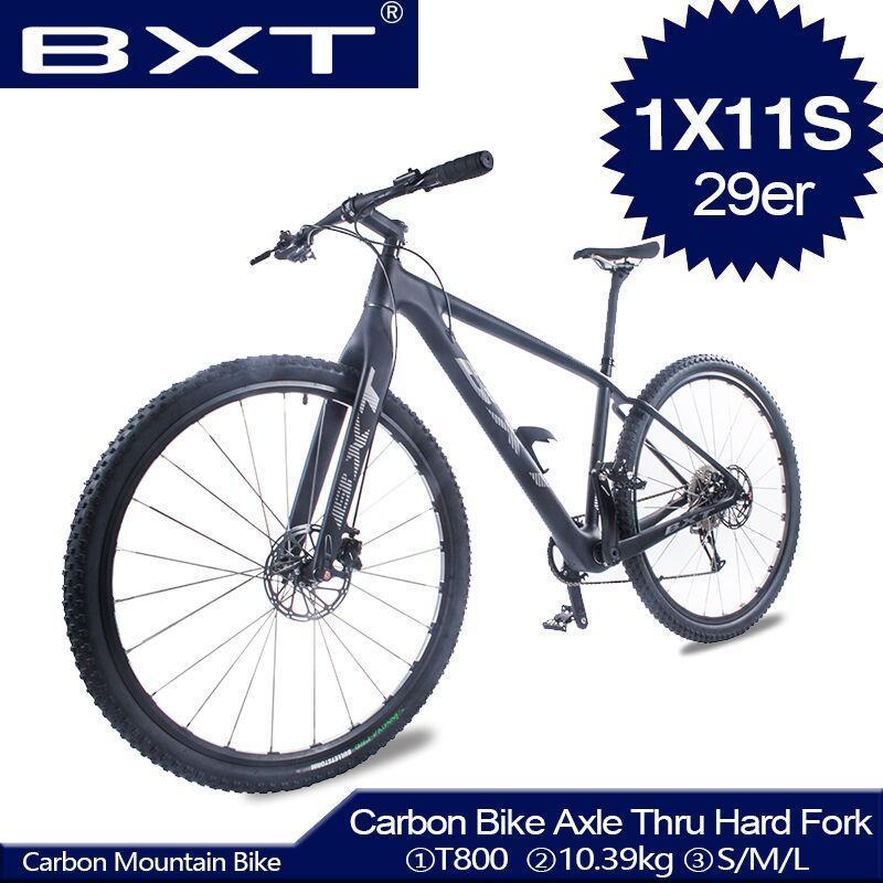 كامل الكربون جبل كامل الدراجة 29 بوصة القرص ضوء دراجة من خلال المحور الصلب شوكة 29er mtb الإطار الدراجات الكبار