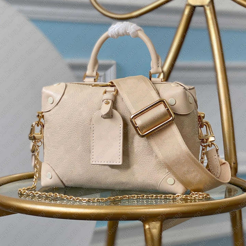 Luxus designer handtaschen frauen umhängetasche emprach echtes leder einfache blumen buchstaben logos geprägte einzelne griff koffer taschen