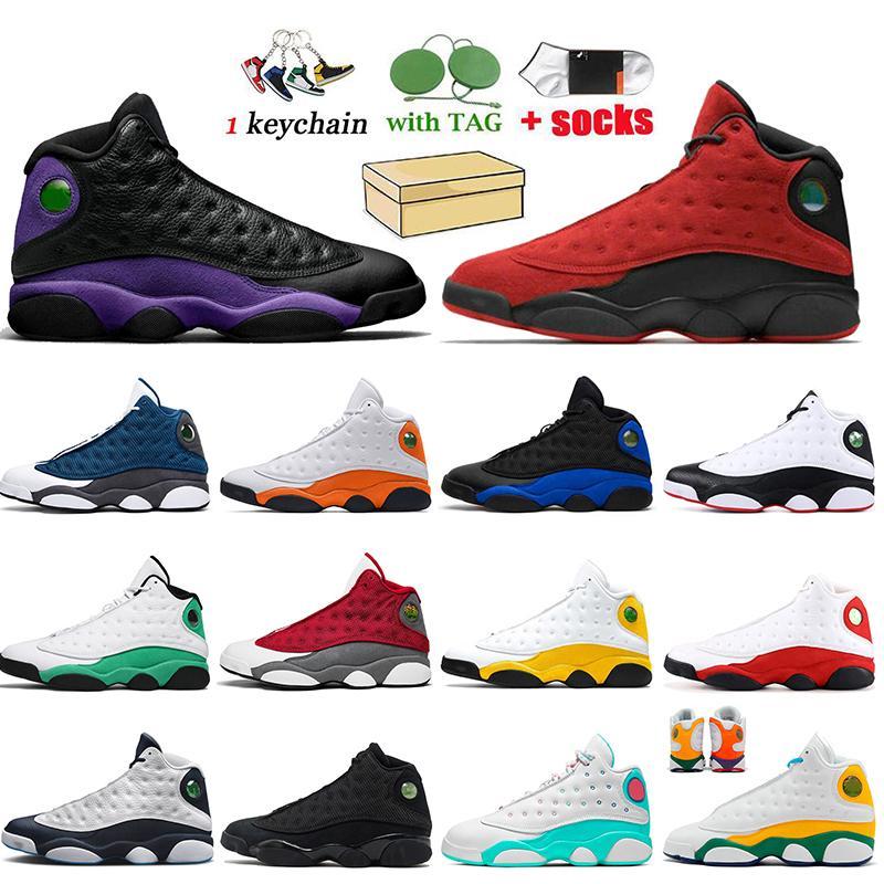 Nike Air Jordan 13 Jordan Retro 13 13s 새로운 최고 품질 레트로 망 여성 점프 만 13s 새틴요르단 불가사리 Flint Hyper Royal 13 그는 게임 망 트레이너 운동화 시카고를 가지고 있습니다.