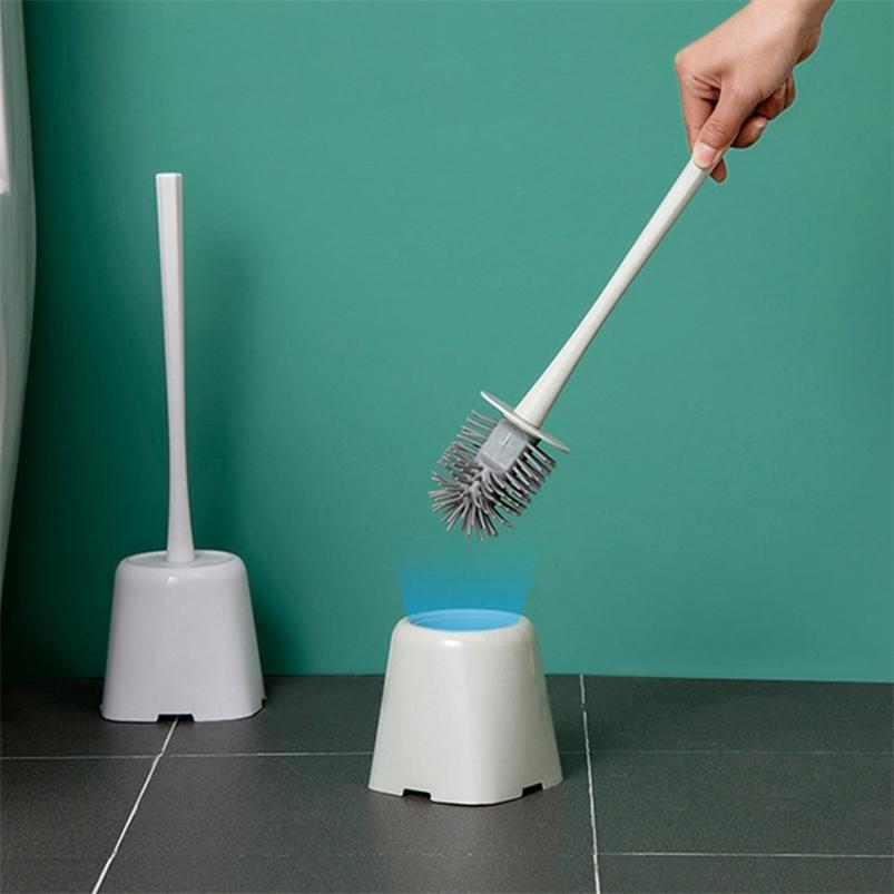 Длинная ручка TPR для очистки щетки для ванной комнаты для дома туалет 210423