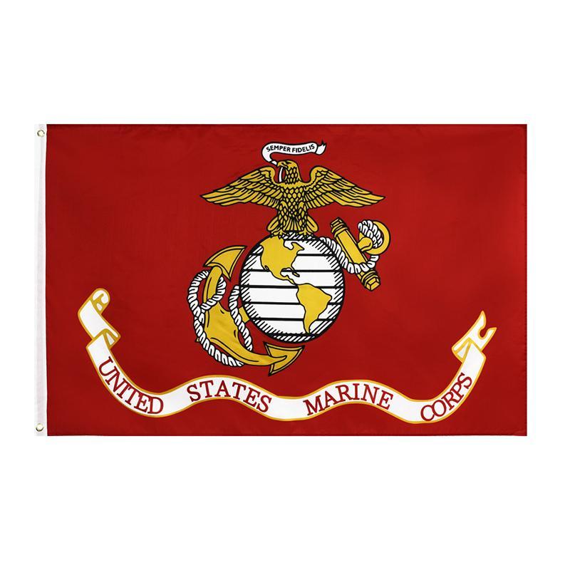 United States Marine Corps Bandeira Dupla Costura de Alta Qualidade EUA Bandeiras Americanas Banner Garden Supplies 90 * 150cm