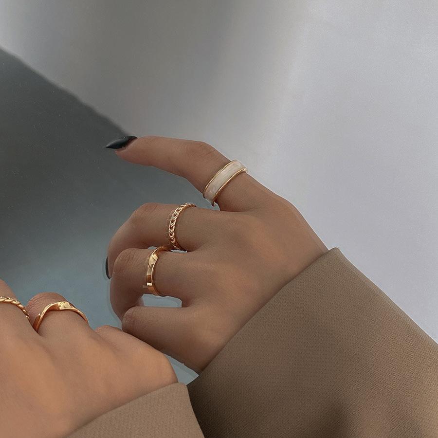 2021 East Gate Fashion Llany Ring Three Piece Traje Combinación Personalidad Frío Viento Apertura CYQ8