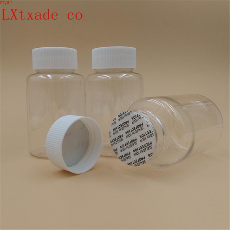 Píldora de la lucencia Botellas de embalaje de plástico 80 50 100 ml con pegatina de sellado Baño de caramelo Sal Vacíacos Cosméticos Cosméticos GRATUITO Reténgase Cantidad