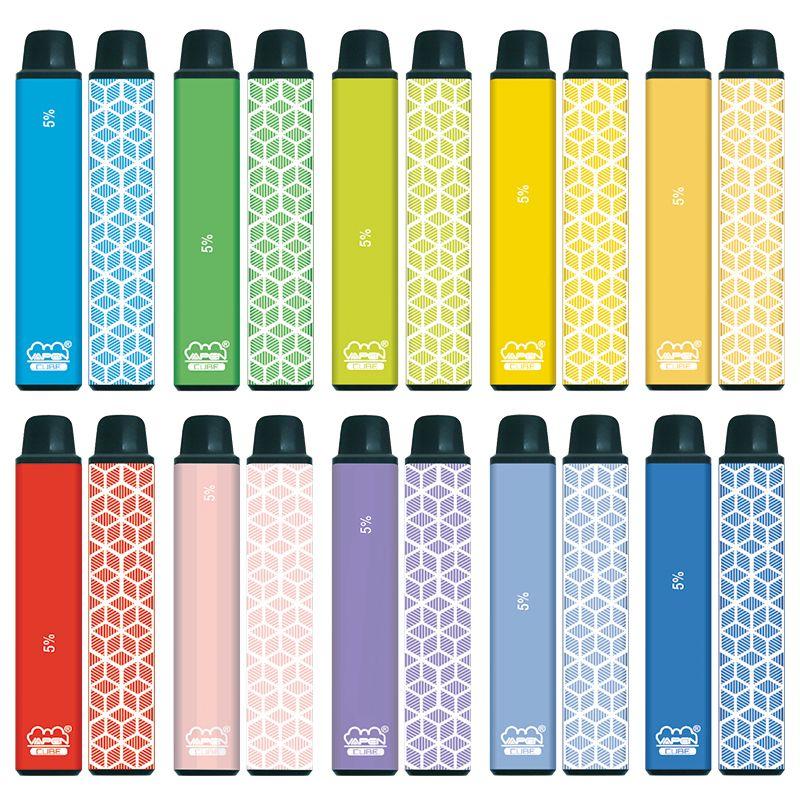 원래 Vapen 큐브 1600 퍼프 일회용 vape 펜 키트 650mAh 배터리 5.5ml 용량 전자 담배 휴대용 기화기 미리 채워진 막대 증기