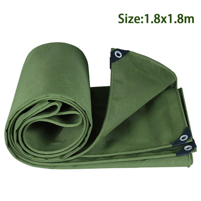 Anti Scratch Shelter con occhielli Outdoor Impermeabile Canvas Tarp Cover Parasole Abbigliamento resistente all'usura resistente per tenda da sole accessori