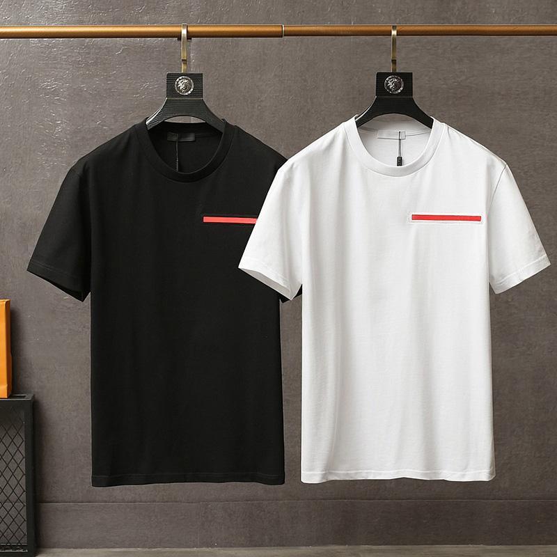 2021 Herren T-Shirt Sommer Kurze Rundhalsausschnitt Baumwolle Pullover Mode Buchstaben Hohe Qualität Designer Straße Luxus Kleidung
