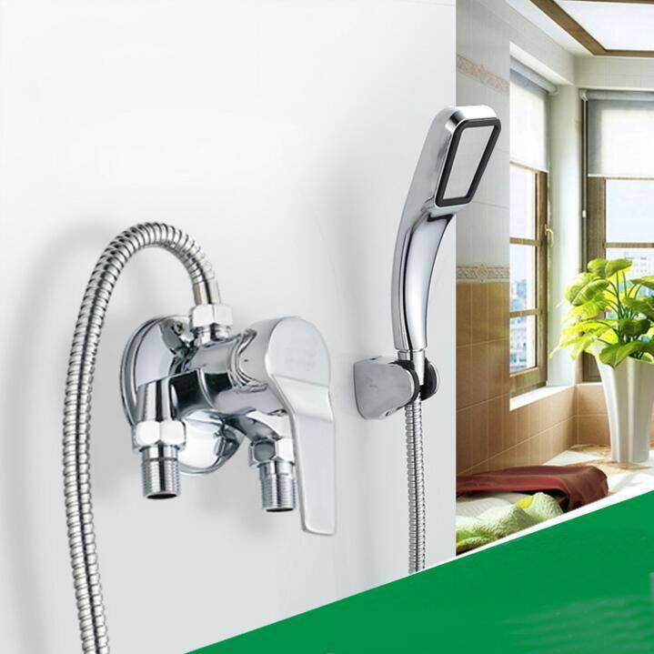 Miscelatore da parete Bath Bath Miscelatore singola maniglia esposta installazione valvola doccia in ottone cromato con set da bagno N8771