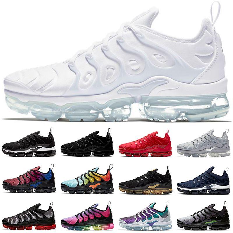 디자이너 TN PLUS 실행 신발 남성 여성 삼중 화이트 블랙 얼룩말 블루 오렌지 포도 남성 트레이너 스포츠 스니커즈 CHAUSSURES 크기 36-47