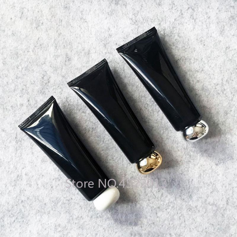 Lagerflaschen Gläser 100 ml Schwarz Kunststoff Cremeflasche 100g Makeup Kosmetische Hautpflegelotion Tube Butterkäse Verpackungsbehälter