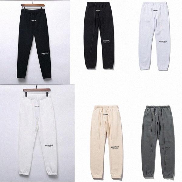 Yansıtıcı Sonbahar Kış Pantolon ABD Tanrı Korkusu Essentials Silikon Harfler Baskı Pantolon Rahat Sis Sweatpants Erkek Kadın FG Jogger Pan26od #