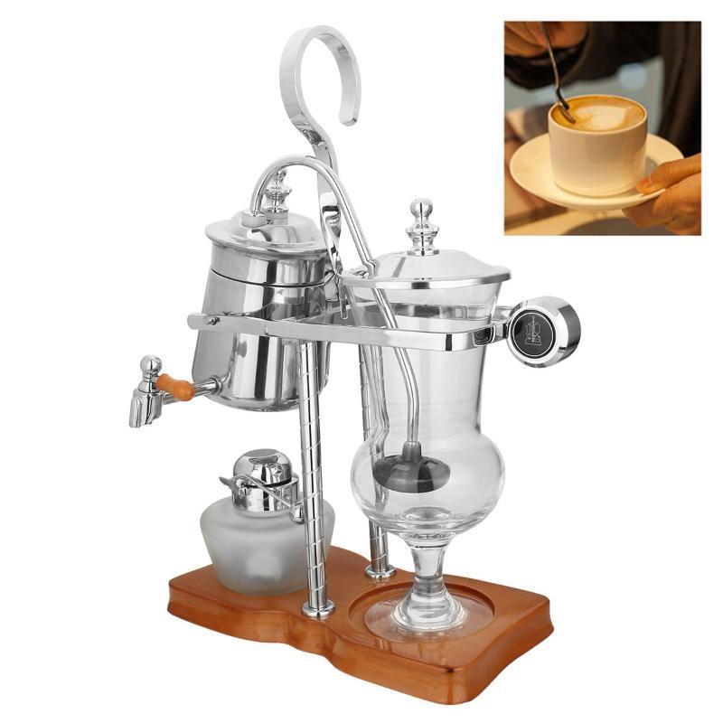 사이펀 커피 메이커 스테인레스 스틸 벨기에 벨기에 벨기에 로얄 밸런스 사이펀 브루어 차 냄비 기계 필터 세트 로스터