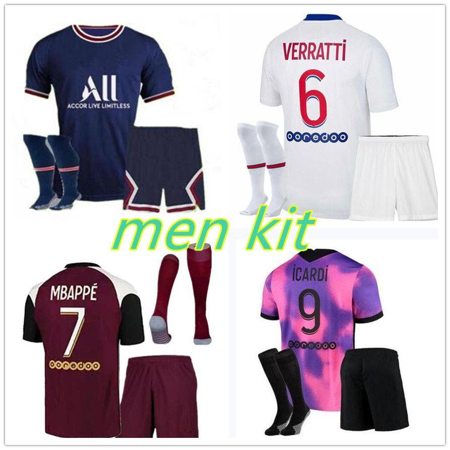 PSG Paris kit maglia da calcio 2020 Paris Saint Germain jersey MBAPPE CAVANI 2021 kit da calcio per adulti costume da campione