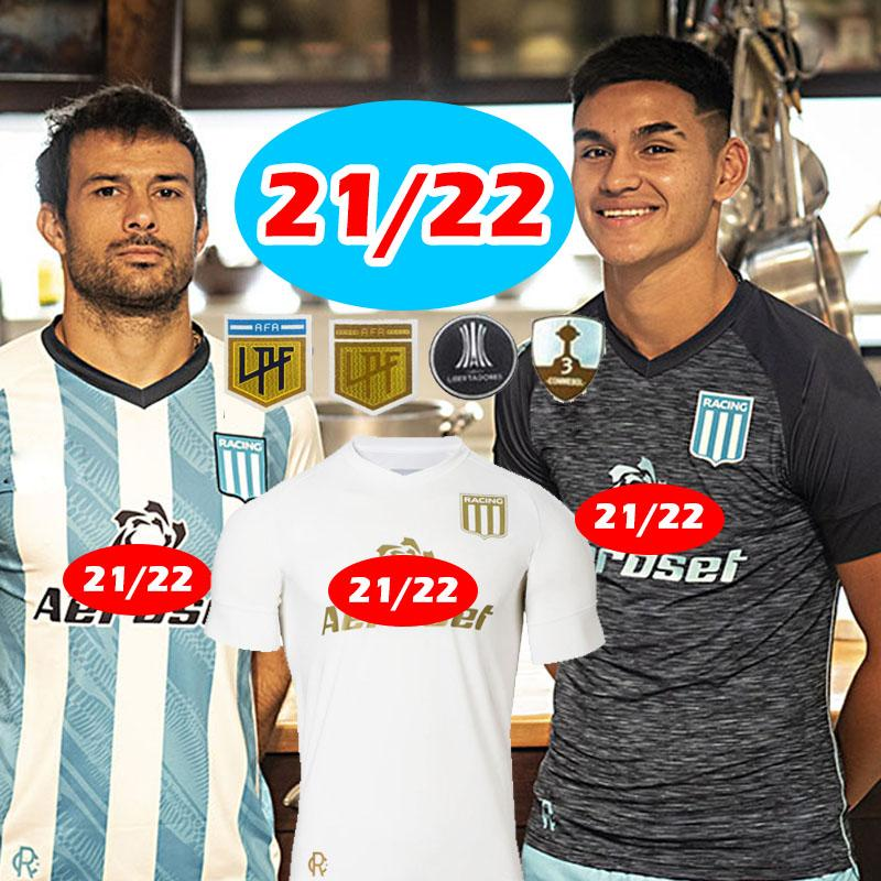 Yarış Kulübü Futbol Formaları 2021 2022 Camisetas Tomás Chancalay Fertoli Churry Rojas Barbona Cvitanich Aníbal Moreno 21 22 Eve Uzakta Lorenzo Melgarejo Futbol Gömlek