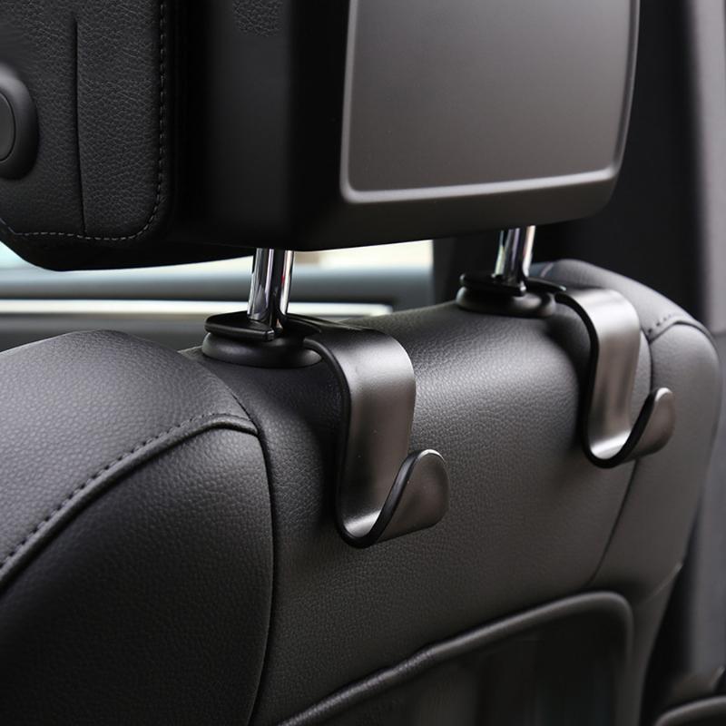 Innendekorationen 1/2 / 4 stücke Universal Auto Sitzhaken Hängende Tragbare Hängende Beutelhalter Lagerung Brieftasche Dekorative Ornamente