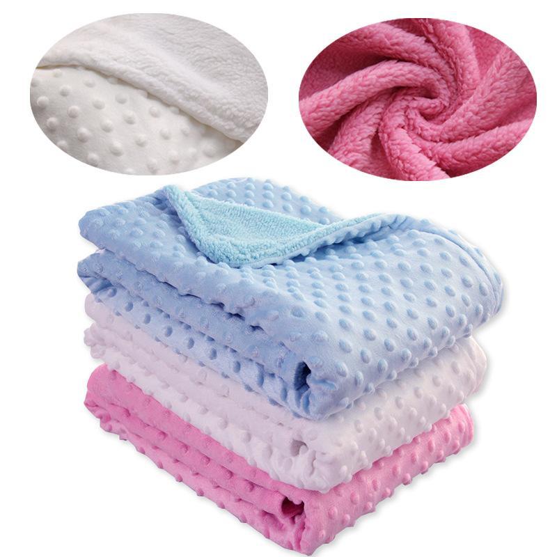 Cobertor de bebê, recém-nascido, térmico, macio, macio, cobertura, inverno, sólido, cama, colcha, colcha, bebê, cama, swaddle, envoltório, 835 x2