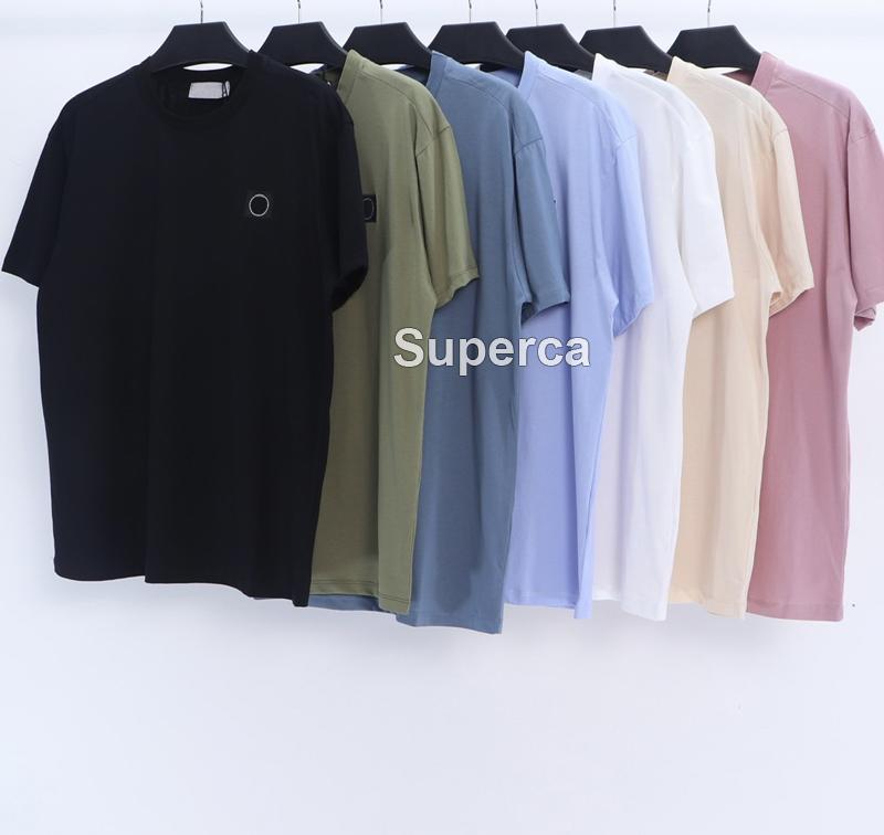 21SS Top Qaulity Summer Mens 디자이너 티셔츠 티셔츠 100 % 코튼 프린트 패션 캐주얼 커플 반팔 티 남성 자 수 셔츠 티셔츠