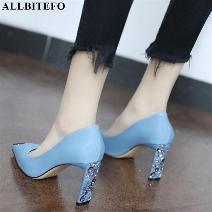 Allbitefo Mode Strass Zeige Zehe High Heels Frauen Schuhe Hochzeit Frauen High Heel Schuhe Hohe Qualität Büro Frauen Heels 210408