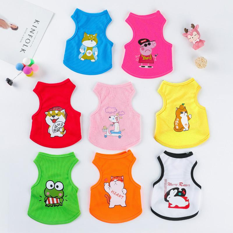 Dog Clothing Pet Vest Small Spring and Summer Thin Bear Teddy Supplies Puppy Cat