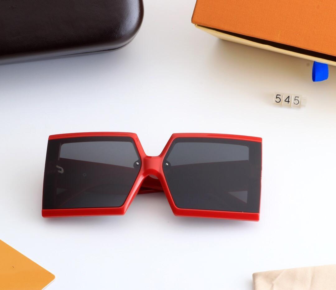 클래식 스퀘어 선글라스 브랜드 디자인 UV400 안경 여성의 대형 프레임 선글라스 태양 안경 여성 거울 545 선글라스 원래 상자