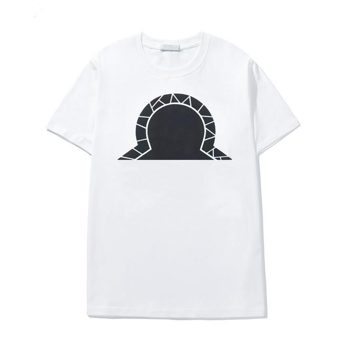 Mode 100% Baumwolle Herren T-shirts Sommer drucken Cartoon T-shirt Männer Damen Kurzarm Rundhals Mann T-shirts Hohe Qualität Schwarzweiß-Größe M-3XL.