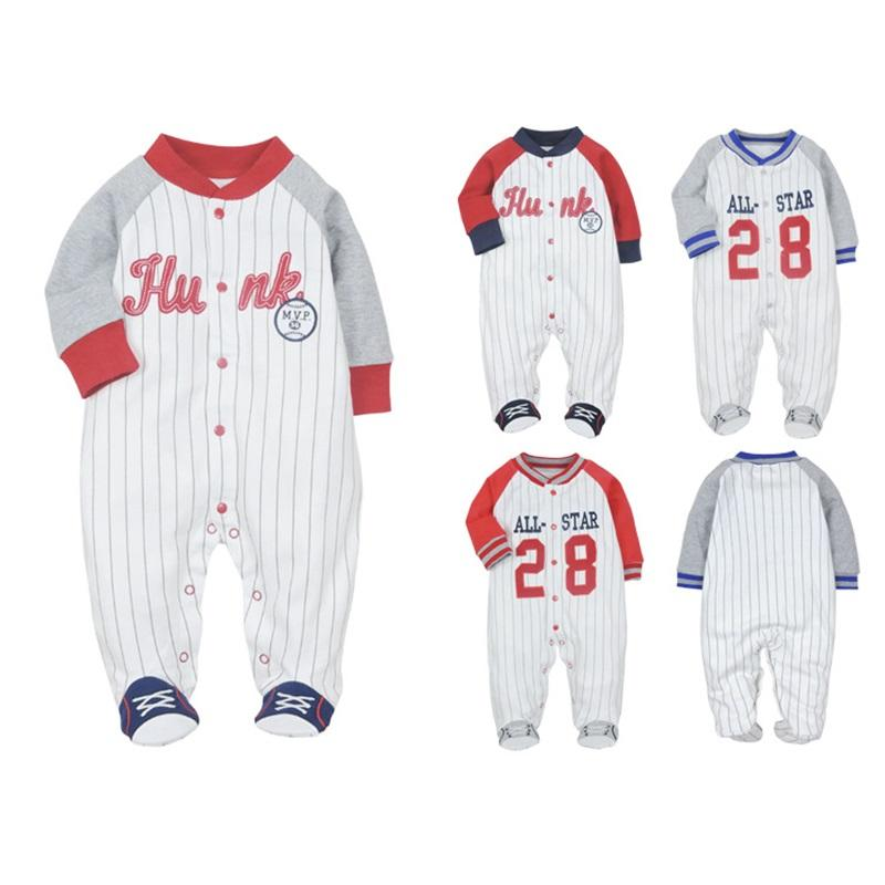 Newborn Baby One Pieces Jumpsuit Infant Boy Girl Warm Romper Kids Footed Pajamas Baby Clothing Cartoon Roupa Cotton Costume 756 X2