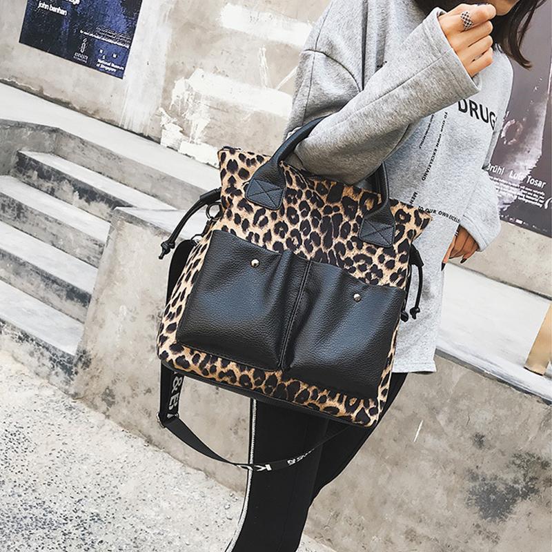 Leopard 2020 new Multi-Functional Women Handbag Crossbody Fashion Female Shoudler Bag Large Capacity Female Travel Luggage versatile Totes