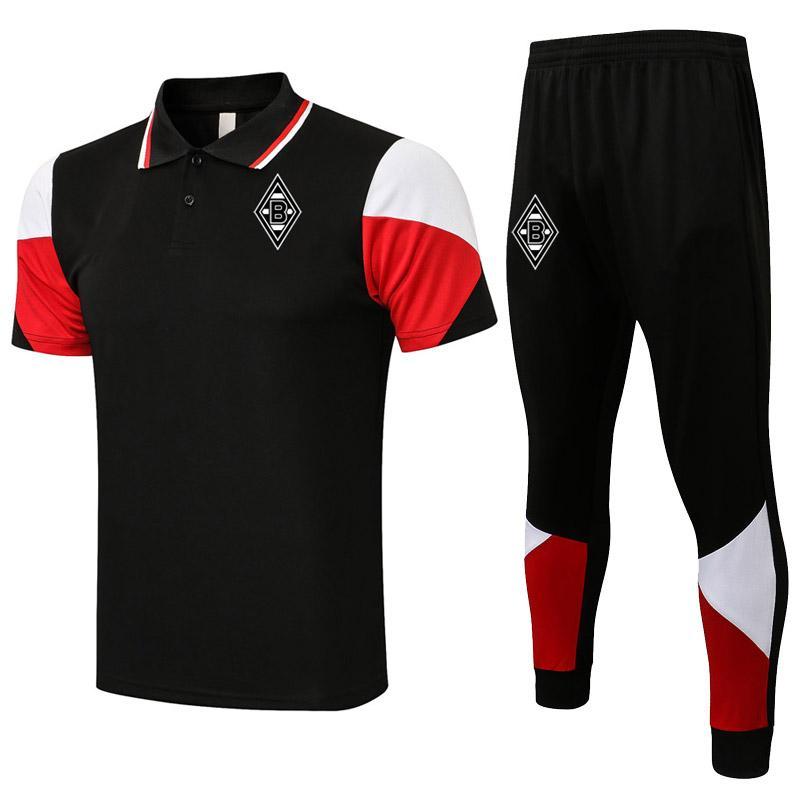 2021 2022 Sezon Borussia Erkek Eşofman Futbol Polo Gömlek Kitleri Futbol Eğitimi Polos Setleri Spor Formaları Yetişkin Rahat Koşu Giyim Tops ve Pantolon