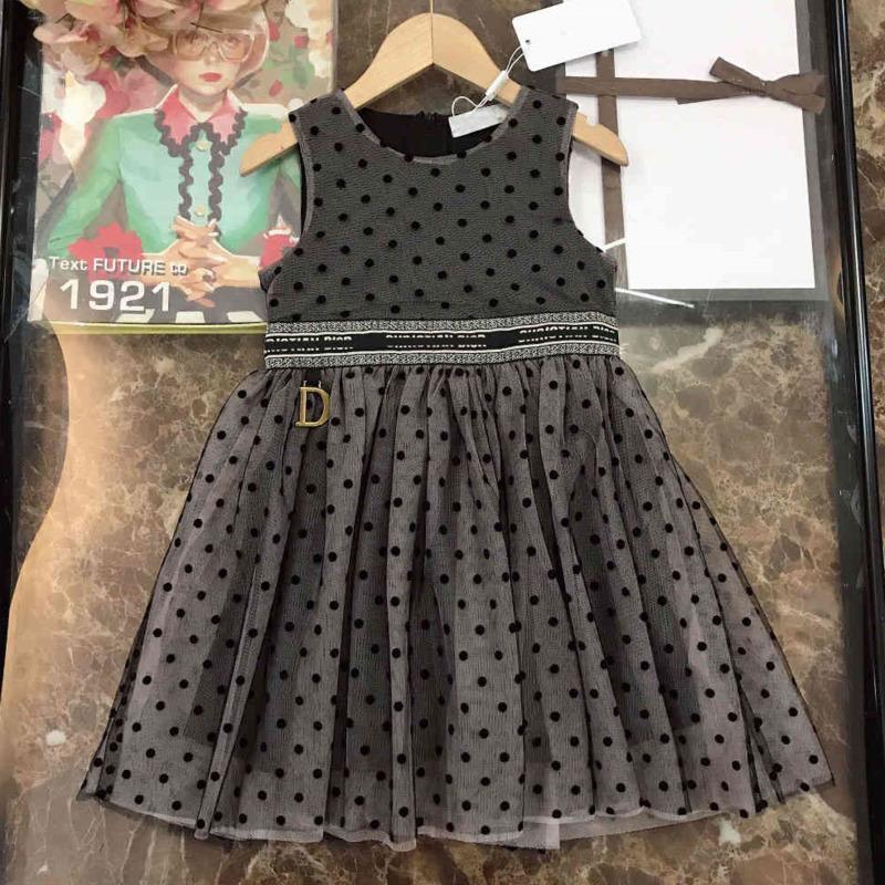 2021ss Baby Girl Robe Casual Do Designers Do Designers Vêtements Enfants Dentelle Robes Summer Girls Boutique Vêtements Jupe sans manches Chine Direct Cat Logo Imprimer Di23