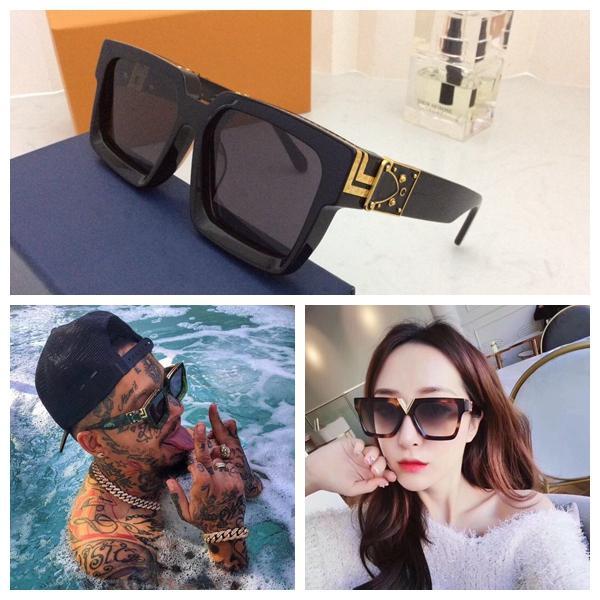Männer Frauen Designer Sonnenbrille Millionaire Square Rahmen Qualität Outdoor Avantgarde Großhandel Stil Gläser mit Fall 96006