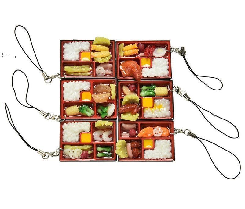 Bonito Simulação Sushi Chaveiro Chaveiro Falso Japonês Caixa De Alimentos Chaveiro Chaveiro Bolsa Pingente Chave Chave Chave Brinquedos Engraçados OWD10484