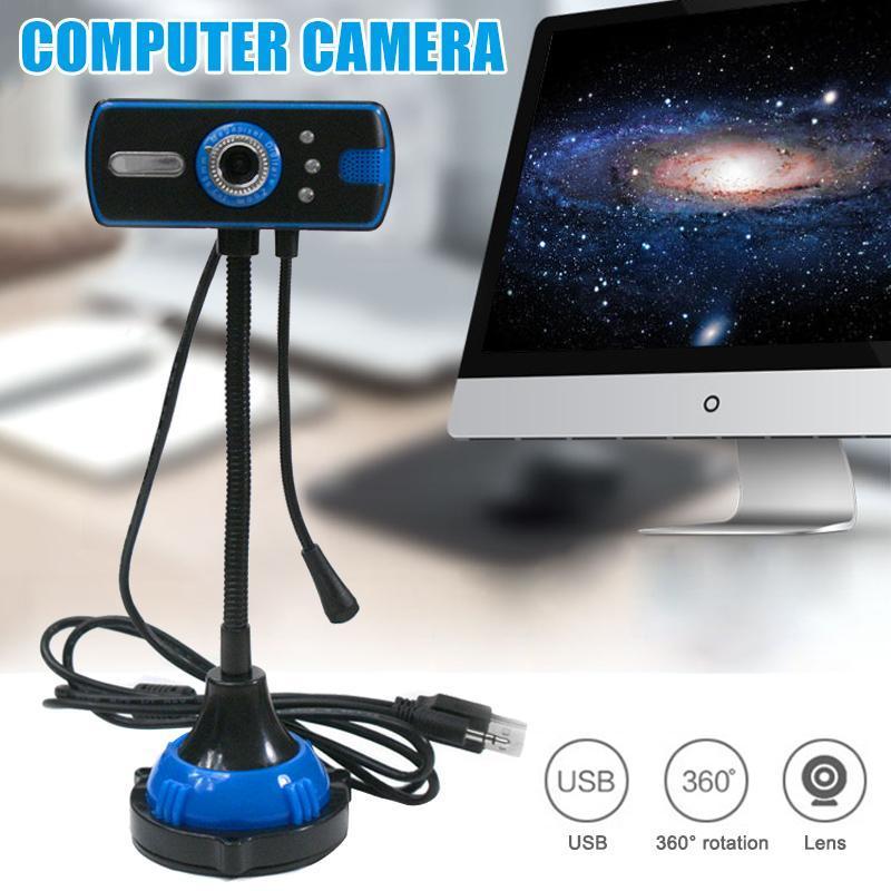 웹캠 PC 웹캠 480P 풀 HD USB 노트북 데스크탑 라이브 스트리밍 마이크 SGA998