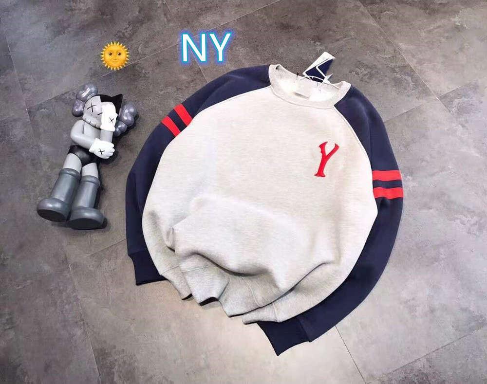 Hohe Qualität 1: 1 Hoodie Herbst Winter Mode Marke N + y Stereo Stickerei Schaumdruck Plüsch Casual Seilige Pullover Für Männer und Frauen