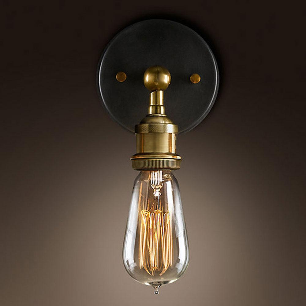 미국 로프트 산업 복고풍 벽 램프 크리 에이 티브 복도 라이트 카페 바 AC110-220V 성격 벽 Sconce 홈 컨트리 아트 분위기 장식 램프