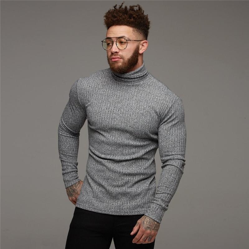 Новая мода зимние водолазки свитера мужские мышцы мужские свитера стройные подходят пуловер человек классический эластичность трикотажного одежды тянуть Homme