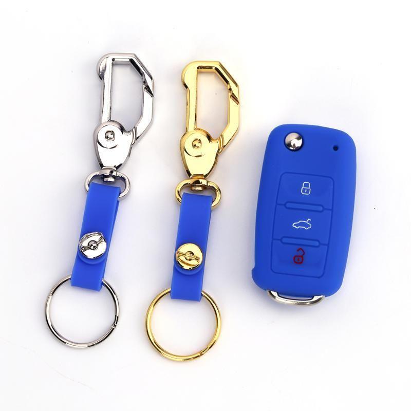 도매 자동 액세서리 키 FOB 커버 금속 실리콘 키 케이스 홀더 피부 보호기 열쇠 고리 키 체인 열쇠가없는 체인