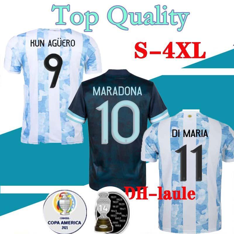 20 21 Argentina 홈 메시 Higuain 축구 유니폼 2020 2021 남자 유니폼 디 마리아 Lo Celso Martinez Correa Shirt S-4XL