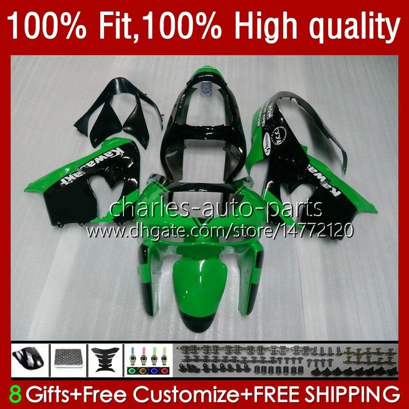 Kawasaki ZX900グリーンのためのボディZX9 R ZX 9R 9 R 900 900CC 00 01 56 HC.8 2001 2002 2003 2003 2003 2001 Full Fairingsキット