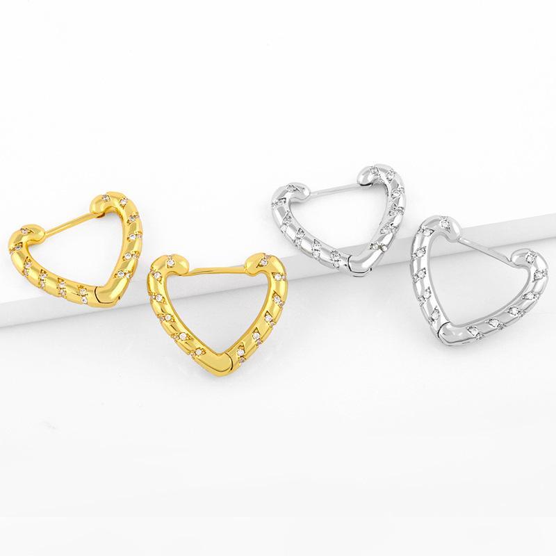 디자이너 한국의 사랑 기질 금속 무관심 성격 다재다능한 심장 귀걸이 여성 ER80