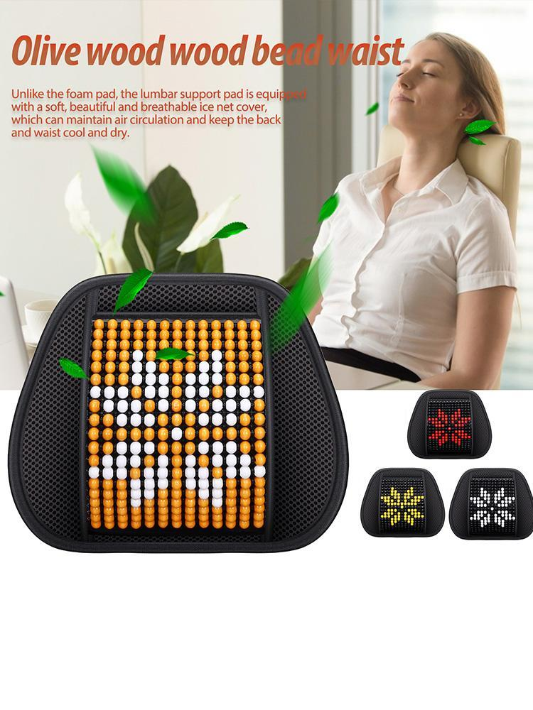 Seat Cushions Car Office Chair Massage Back Lumbar Support Mesh Ventilate Cushion Pad Black For Driver