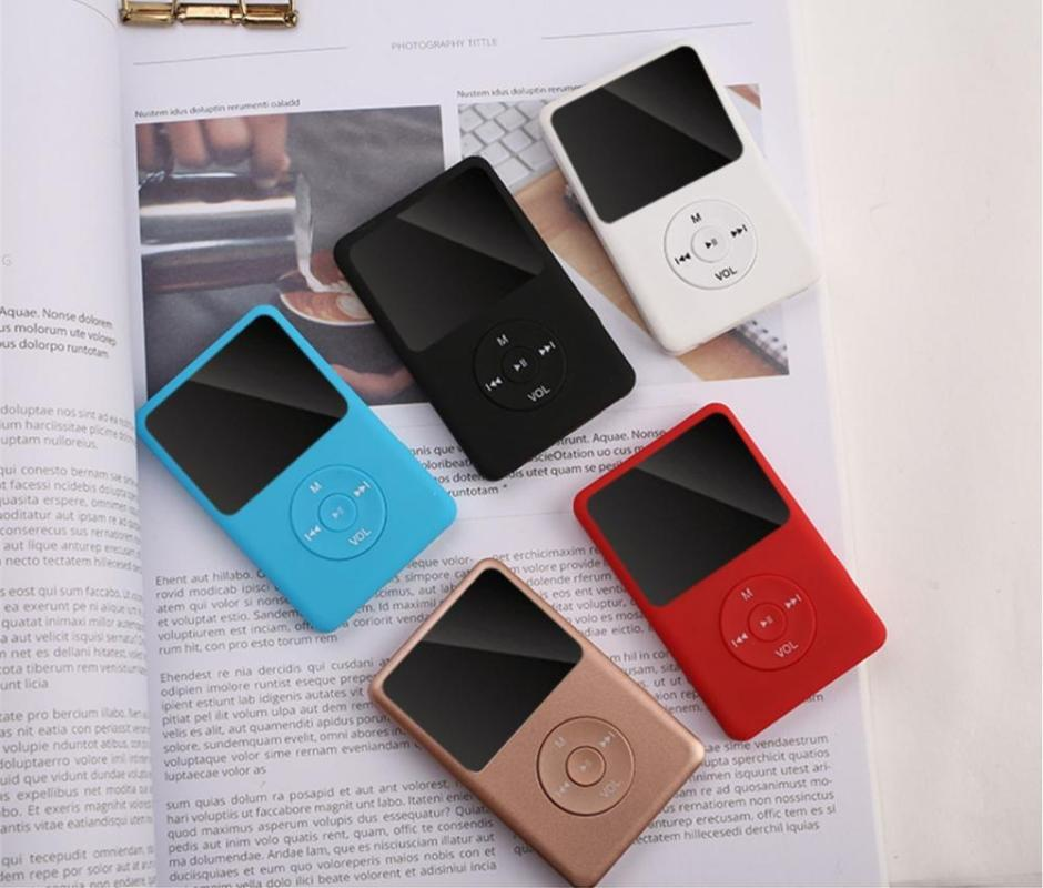 MP4 Players Version Bluetooth MP3 Player MP3 com alto-falante e built-in 8GB 16GB 32GB HiFi Portable Walkman Radio / FM / Record