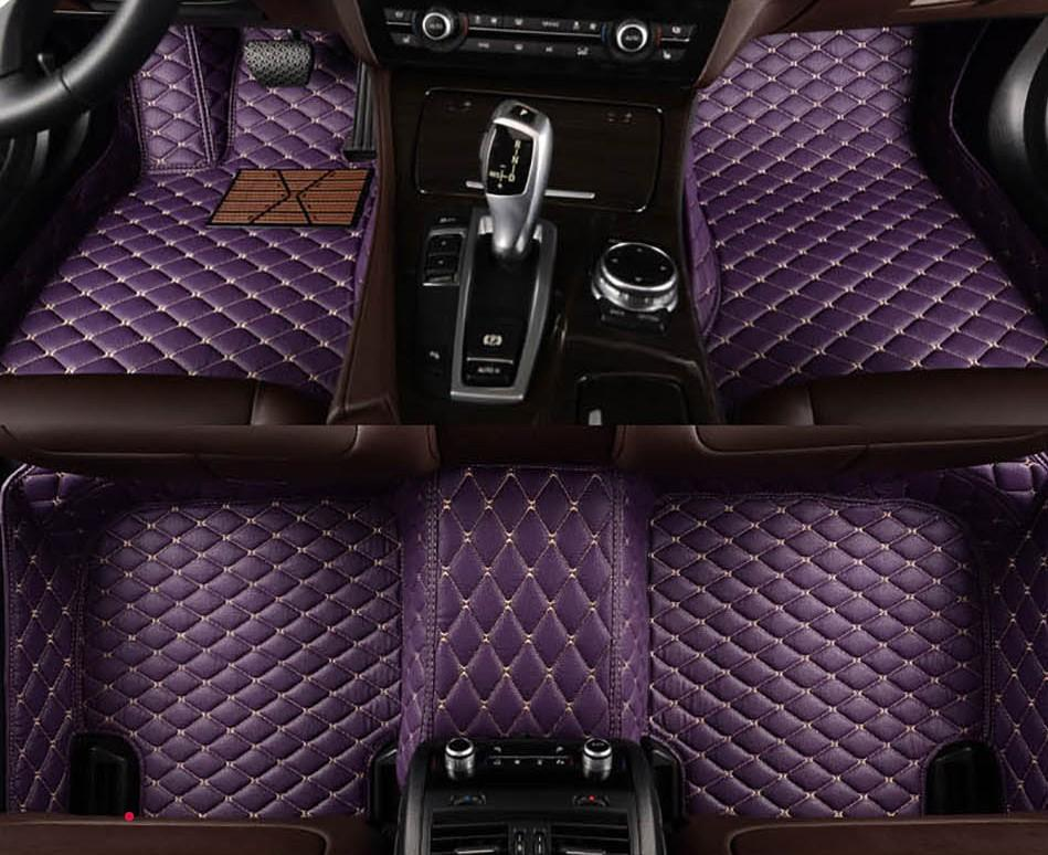 RHD Carpets For Toyota 4Runner Wish 7 seats Car Floor Mats Auto Styling Accessories Pedal Foot Pads Automobiles Waterproof