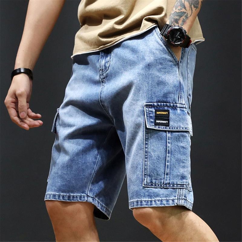 Jeans Menores Verano Estiramiento Corto Moda Casual Slim Fit Bolsillos Elásticos Alta Calidad Pantalones cortos de mezclilla transpirables Ropa masculina