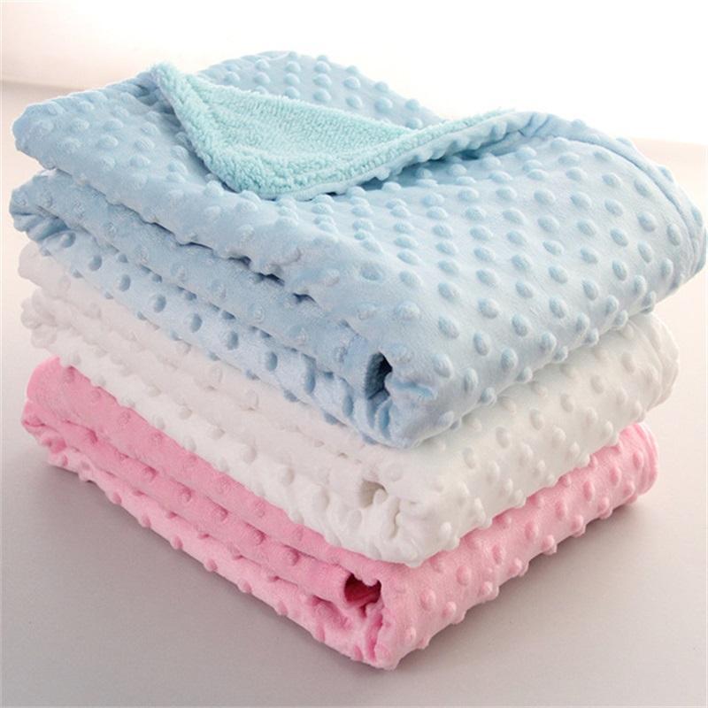 Cobertor de bebê com recém-nascido térmico térmico macio cobertor de inverno cama sólida conjunto de algodão colcha bebê cama infantil swaddle wrap 1119 v2
