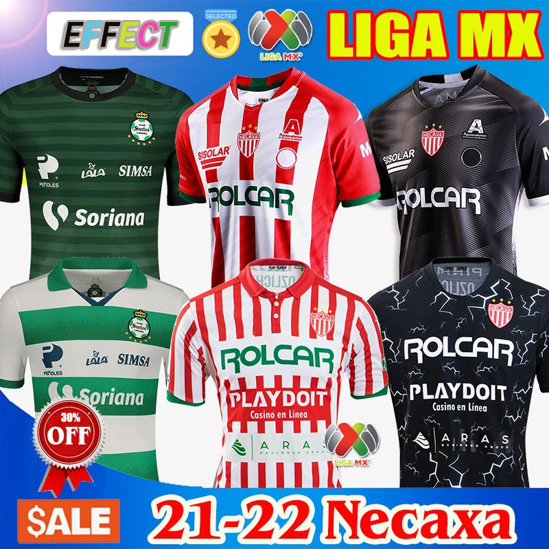 2021 2022 Club Necaxa Futbol Formaları 20/21/22 Ev Uzakta Tayland Kalite Liga MX Kit Jersey Futbol Üniforma Gömlek